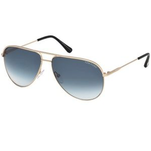 Tom Ford Sunglasses Gold w/Green Lens